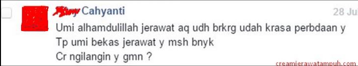 Testi jerawat mba Fitry via Facebook/ummiamizah.skincare